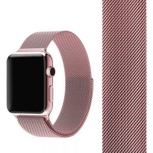 Ремешек Миланская петля Milanese Loop для Apple Watch 38 mm / 40 mm №4 (Розовый)