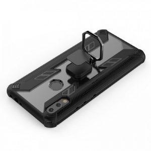Ударопрочный чехол Combo Ring под магнитный держатель с кольцом для Xiaomi Redmi Note 7 / Note 7 Pro / Note 7s – Черный