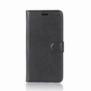 Кожаный чехол-книжка Wallet с визитницей для Sony Xperia XZ2 (Черный)