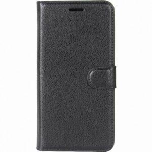 Кожаный чехол-книжка Wallet с визитницей для Sony Xperia XZ / XZS (Черный)