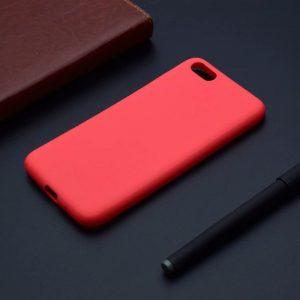 Матовый силиконовый (TPU) чехол для Huawei Y5 2018 / Honor 7A (Красный)