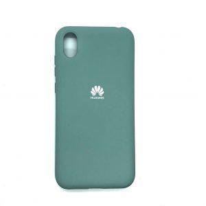 Оригинальный чехол Silicone Cover 360 с микрофиброй для Huawei Y5 2019 / Honor 8s (Бирюза)