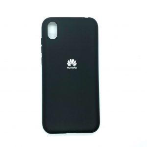 Оригинальный чехол Silicone Cover 360 с микрофиброй для Huawei Y5 2019 / Honor 8s (Черный)