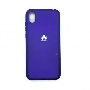 Оригинальный чехол Silicone Cover 360 с микрофиброй для Huawei Y5 2019 / Honor 8s (Фиолетовый)