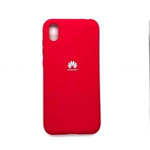Оригинальный чехол Silicone Cover 360 с микрофиброй для Huawei Y5 2019 / Honor 8s (Красный)