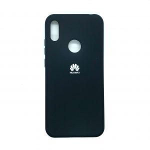 Оригинальный чехол Silicone Cover 360 с микрофиброй для Huawei Y6 2019 / Honor 8A (Темно-синий)