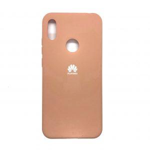 Оригинальный чехол Silicone Cover 360 с микрофиброй для Huawei Y6 2019 / Honor 8A (Персиковый)