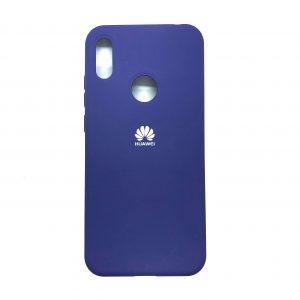 Оригинальный чехол Silicone Cover 360 с микрофиброй для Huawei Y6 2019 / Honor 8A (Фиолетовый)
