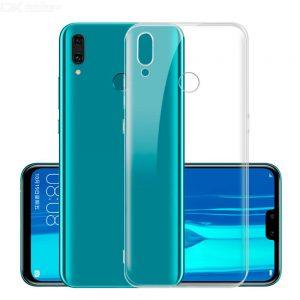 Прозрачный силиконовый TPU чехол для Huawei Y9 (2019)