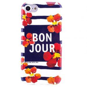 Силиконовый чехол  полосатый для Iphone 7 / 8 (Bon Jour)