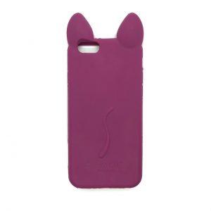 Силиконовый 3D чехол Ko Ko Cat для Iphone 6 / 6s (Розовый)
