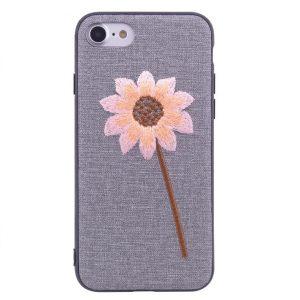 """Cиликоновый (TPU+PC) чехол (накладка) """"Вышиванка"""" для Iphone 7 / 8 / SE (2020) – Цветок"""