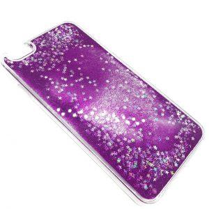 Прозрачный TPU+PC чехол с переливающимися блестками для Iphone 6 Plus / 6s Plus (Фиолетовый)