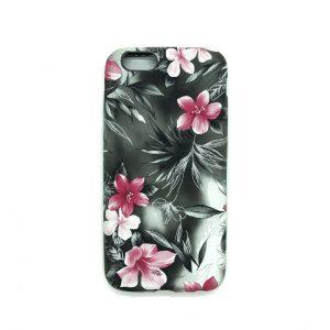 Силиконовый чехол c рисунком для Iphone 6 / 6s (Цветы)