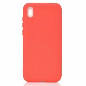 Матовый силиконовый TPU чехол для Huawei Y5 2019 / Honor 8s (Красный)