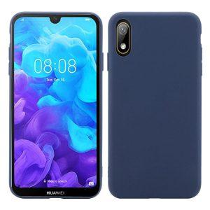 Матовый силиконовый TPU чехол для Huawei Y5 2019 / Honor 8s (Синий)