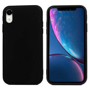Матовый силиконовый (TPU) чехол для Iphone XR (Черный)