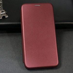 Кожаный чехол-книжка 360 с визитницей для Meizu M6s – Марсала