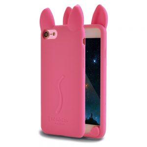 Силиконовый 3D чехол Ko Ko Cat для Iphone 6 Plus / 6s Plus (Розовый)