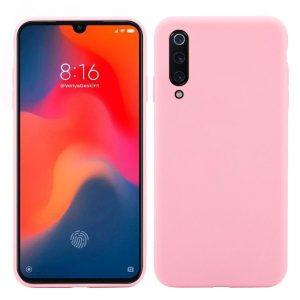 Матовый силиконовый (TPU) чехол для Xiaomi Mi 9 SE (Розовый)