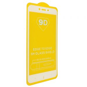Защитное стекло 9D Full Glue Cover Glass на весь экран для Xiaomi Redmi 4x — White