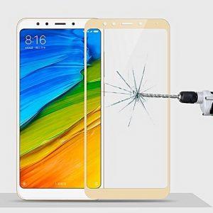 Защитное стекло 2.5D (3D) Full Cover на весь экран для Xiaomi Redmi 5 Plus – Gold