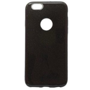 Cиликоновый (TPU+PC) чехол Shine с блестками для Iphone 6 / 6S (Черный)