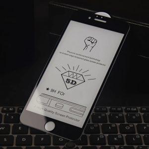 Защитное стекло 5D Premium Full Glue на весь экран для Iphone 6 Plus / 6s Plus – Black