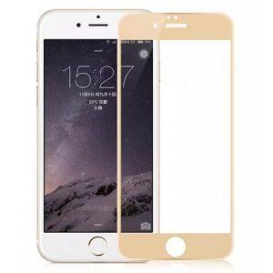 Защитное стекло 3D (5D) Full Glue Armor Glass на весь экран для Iphone 6 / 6s — Gold