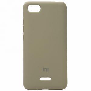Оригинальный чехол Silicone Cover 360 с микрофиброй для Xiaomi Redmi 6A (Серый)