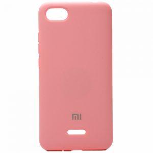 Оригинальный чехол Silicone Cover 360 с микрофиброй для Xiaomi Redmi 6A (Розовый)