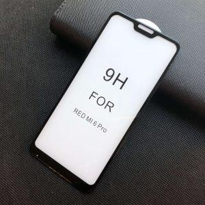 Защитное стекло 5D Premium 9H Full Glue на весь экран для Xiaomi Redmi 6 Pro / Mi A2 Lite — Black