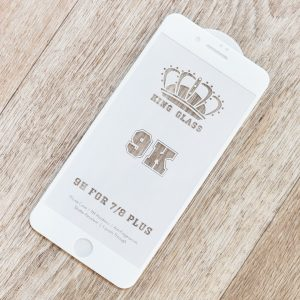 Защитное стекло 9K Full Glue для Iphone 7 Plus / 8 Plus — White