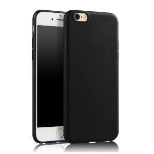 Матовый силиконовый TPU чехол для Iphone 7 / 8 / SE (2020) – Черный