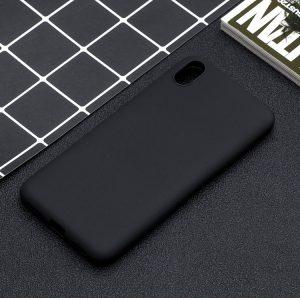Матовый силиконовый TPU чехол для Xiaomi Redmi 7A (Черный)