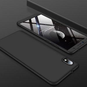 Матовый пластиковый чехол GKK 360 градусов для Xiaomi Redmi 7A (Черный)