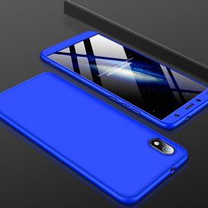 Матовый пластиковый чехол GKK 360 градусов для Xiaomi Redmi 7A (Синий)
