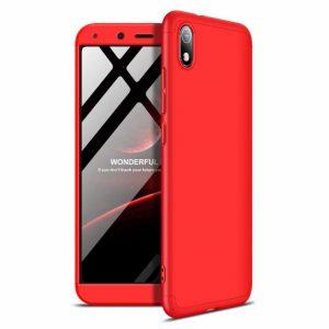 Матовый пластиковый чехол GKK 360 градусов для Xiaomi Redmi 7A (Красный)