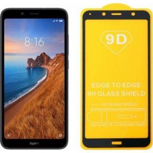 Защитное стекло 9D Full Glue Cover Glass на весь экран для Xiaomi Redmi 7A – Black