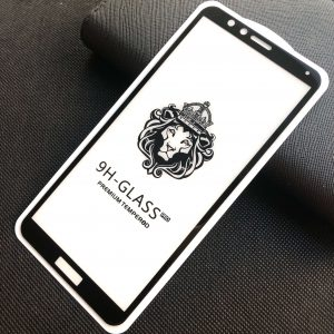 Защитное стекло 3D (5D) Perfect Glass Full Glue Lion на весь экран для Huawei Honor 7X — Black