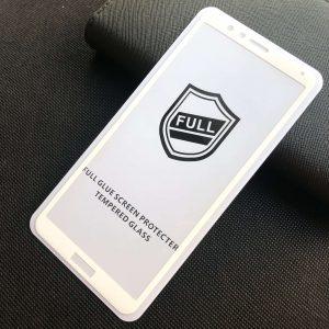 Защитное стекло 3D (5D) Perfect Glass Full Glue на весь экран для Huawei Honor 7x — White