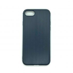 Cиликоновый (TPU) чехол Metal для Iphone 7 / 8 (Синий)