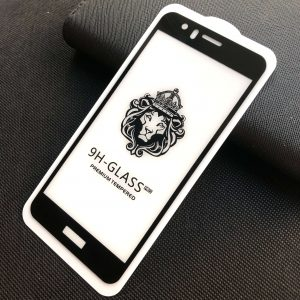 Защитное стекло 3D (5D) Perfect Glass Full Glue Lion на весь экран для Huawei Honor 8 — Black