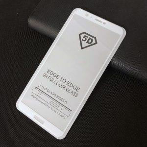Защитное стекло 5D Full Glue Cover Glass на весь экран для Huawei P Smart — White