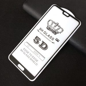 Защитное стекло 3D (5D) Perfect Glass Full Glue King на весь экран для Huawei P20 – Black