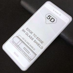 Защитное стекло 5D Full Glue Cover Glass на весь экран для Huawei P8 Lite 2017 – White
