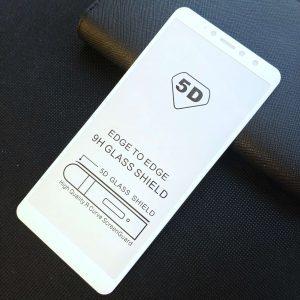 Защитное стекло 5D Full Glue Cover Glass на весь экран для Xiaomi Redmi S2 — White