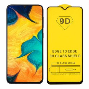 Защитное стекло 9D Full Glue Cover Glass на весь экран для Samsung Galaxy A40 2019 (A405) – Black