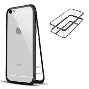 Магнитный противоударный чехол (бампер) 360 градусов защиты для Iphone 6 / 6S (Черный)