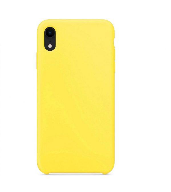 Матовый силиконовый (TPU) чехол для Iphone XR (Желтый)
